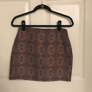 Jacquard Weave Mini Skirt